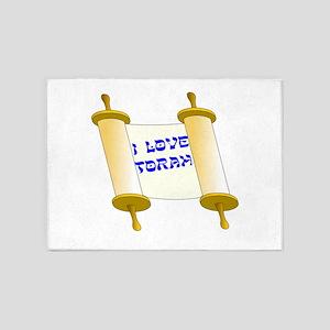 I Love Torah 5'x7'Area Rug
