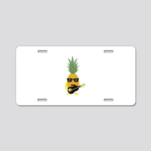 Rock 'n' Roll Pineapple Aluminum License Plate