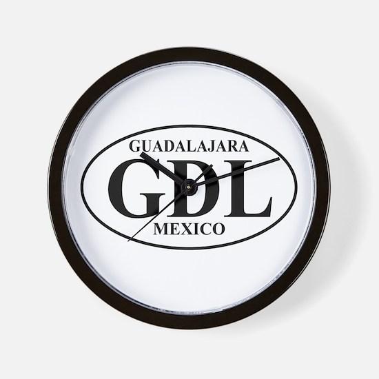 GDL Guadalajara Wall Clock