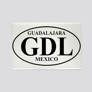 GDL Guadalajara Rectangle Magnet