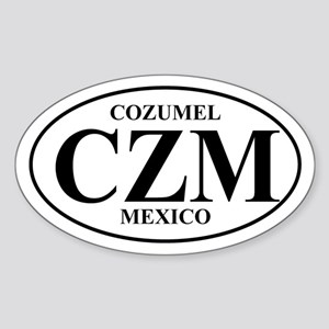 CZM Cozumel Oval Sticker