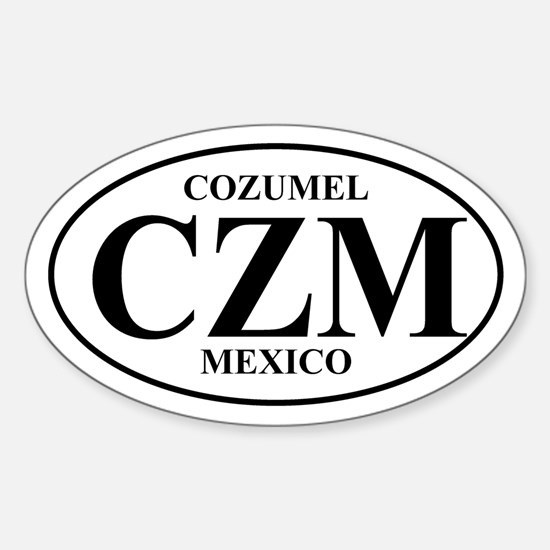 CZM Cozumel Oval Decal