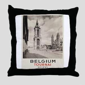 Vintage poster - Belgium Throw Pillow