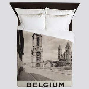 Vintage poster - Belgium Queen Duvet