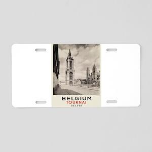 Vintage poster - Belgium Aluminum License Plate