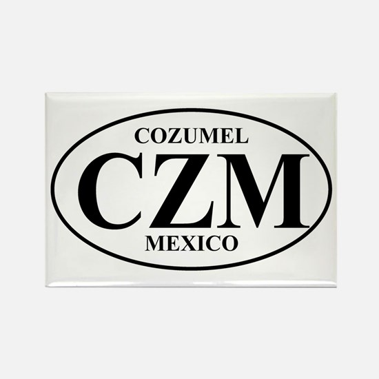 CZM Cozumel Rectangle Magnet