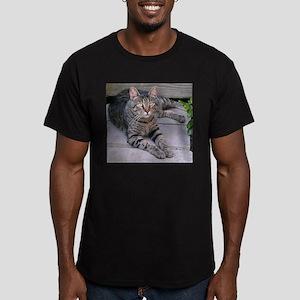 Brown Tabby Men's Fitted T-Shirt (dark)