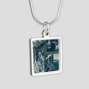 Silver Square Necklace