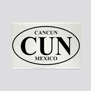 CUN Cancun Rectangle Magnet