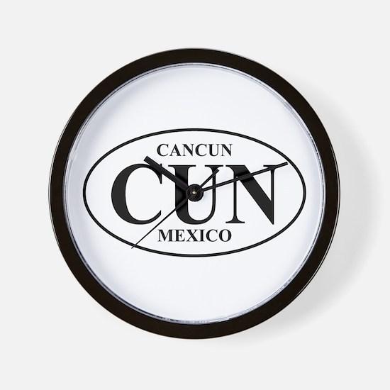 CUN Cancun Wall Clock