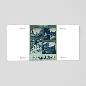 Vintage poster - Lettland Aluminum License Plate