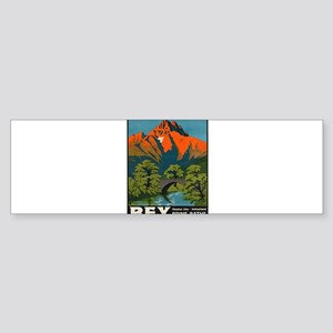 Vintage poster - Switzerland Bumper Sticker