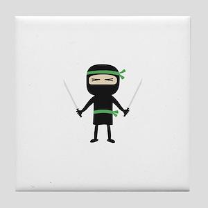 ninja with weapon Tile Coaster