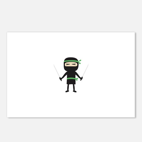ninja with weapon Postcards (Package of 8)