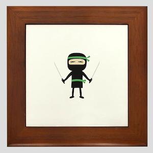 ninja with weapon Framed Tile