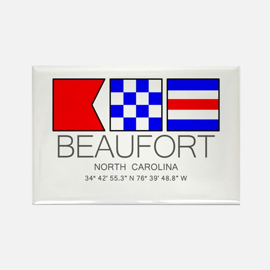 BEAUFORT, North Carolina Nautical Flag Art Magnets