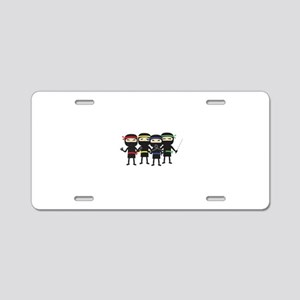 ninja with weapon Aluminum License Plate