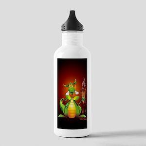 Fun Dragon with Ice Cream Sports Water Bottle