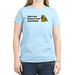 Find a New Friend - Brown Dog Women's Light T-Shir