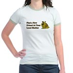Find a New Friend - Brown Dog Jr. Ringer T-Shirt