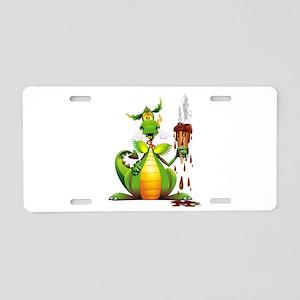 Fun Dragon with Ice Cream Aluminum License Plate