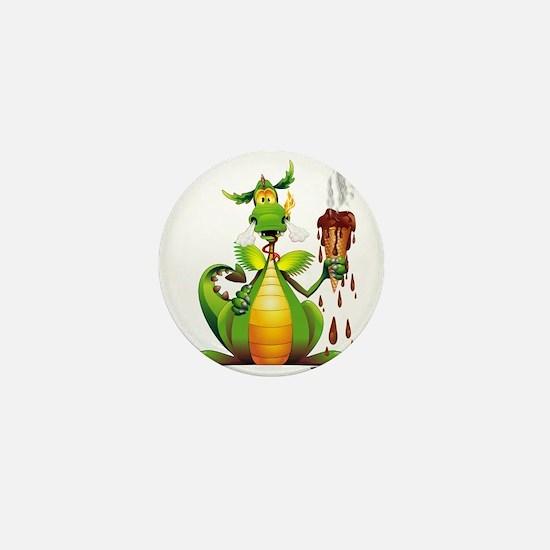 Fun Dragon with Ice Cream Mini Button