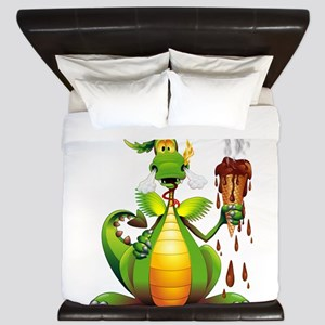 Fun Dragon with Ice Cream King Duvet