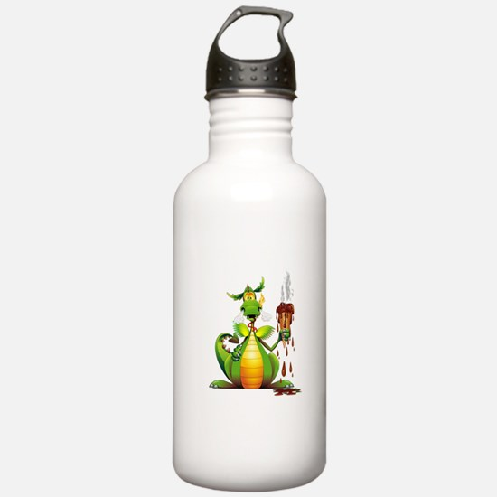 Fun Dragon with Ice Cream Sports Water Bottle