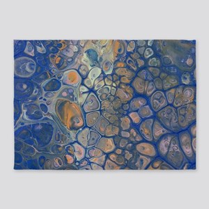 Octopus Abstracted 5'x7'Area Rug