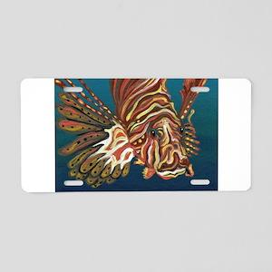 Lion Fish Aluminum License Plate
