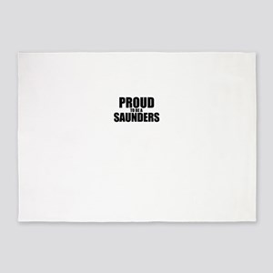 Proud to be SAUNDERS 5'x7'Area Rug