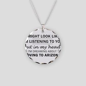 Moving to Arizona Necklace Circle Charm