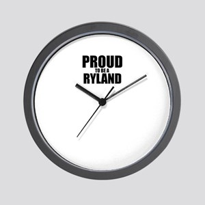 Proud to be RYLAND Wall Clock