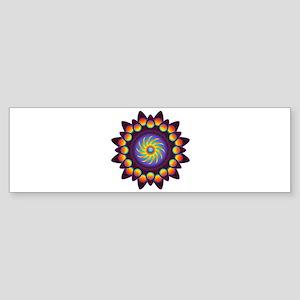 Abstract Colorful Mandala Bumper Sticker