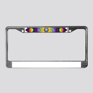 Abstract Colorful Mandala License Plate Frame