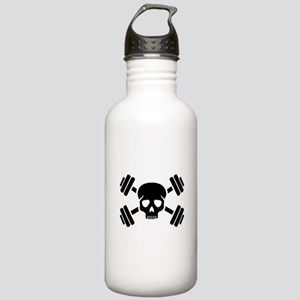 Crossed barbells skull Stainless Water Bottle 1.0L