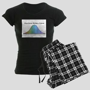 Political IQ Bell Curve Women's Dark Pajamas