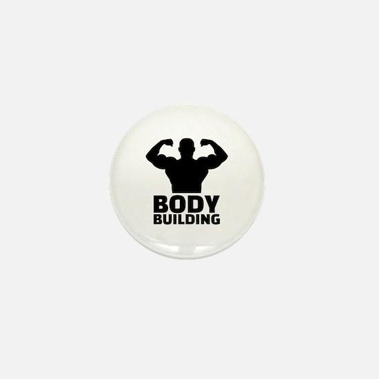 Bodybuilding Mini Button