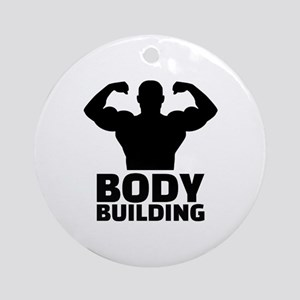 Bodybuilding Round Ornament