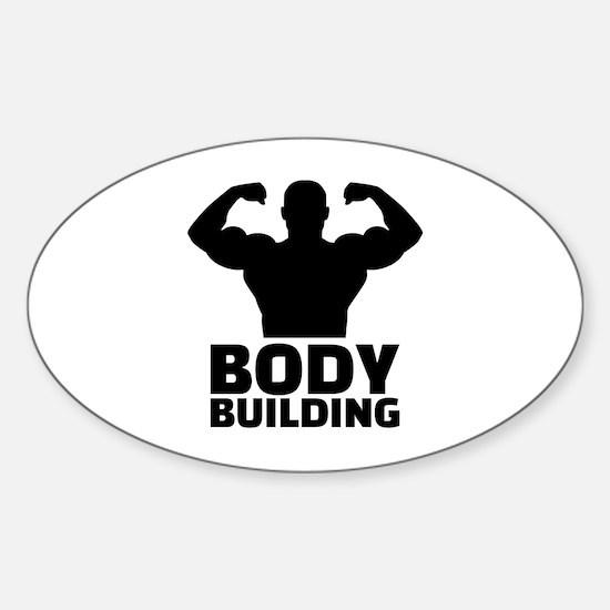 Bodybuilding Sticker (Oval)
