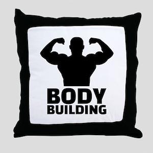 Bodybuilding Throw Pillow