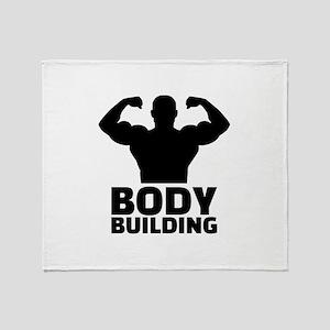 Bodybuilding Throw Blanket