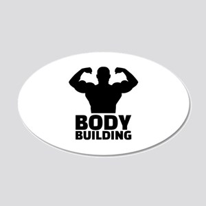 Bodybuilding 20x12 Oval Wall Decal