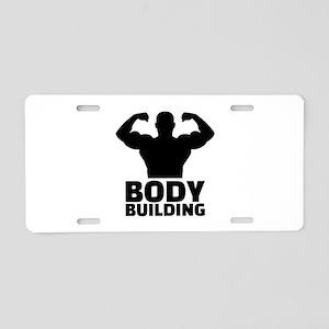Bodybuilding Aluminum License Plate