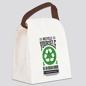 Recycle Yourself Be an Organ Donor Canvas Lunch Ba