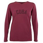 Cuba Plus Size Long Sleeve Tee