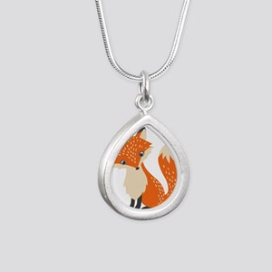 Cute Red Fox Cartoon Illustration Necklaces