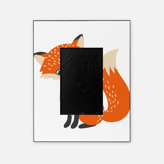 Cute Red Fox Cartoon Illustration Picture Frame