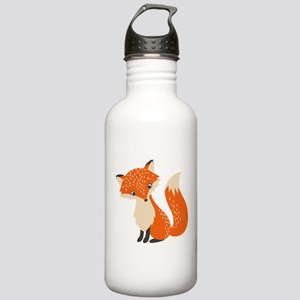 Cute Red Fox Cartoon I Stainless Water Bottle 1.0L