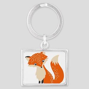 Cute Red Fox Cartoon Illustration Keychains